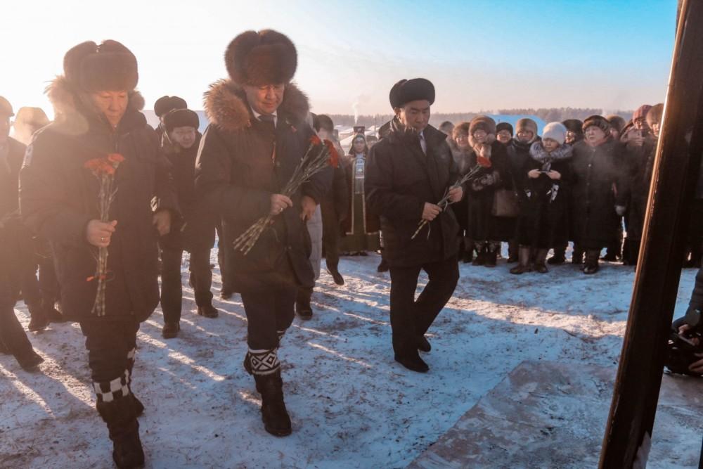 В Таттинском улусе почтили память матери защитников Родины Февроньи Малгиной