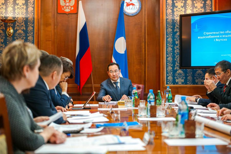 Айсен Николаев поручил утвердить программу по строительству водоузла и коллектора в Якутске