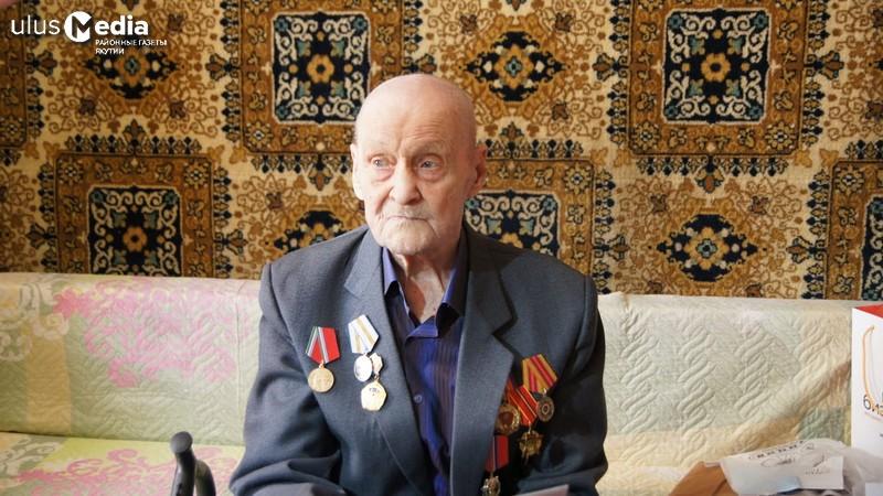 Единственного ветерана войны Оймяконья Николая Шевченко поздравили с юбилеем