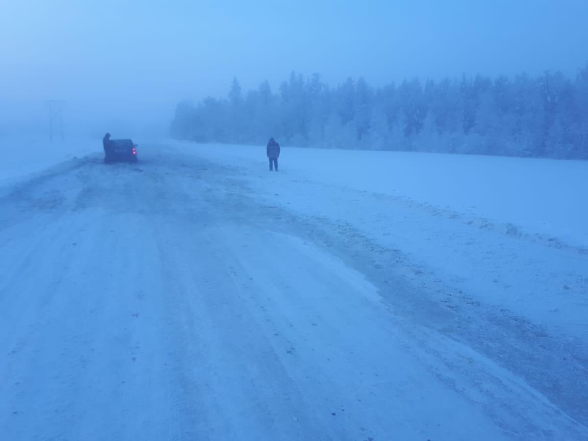 Ограничено движение на автозимнике «Индигир» из-за наледи на участке Усть-Нера-Хонуу