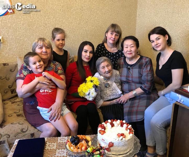 100-летний юбилей. В Якутии поздравили долгожительницу Антонину Бахматову