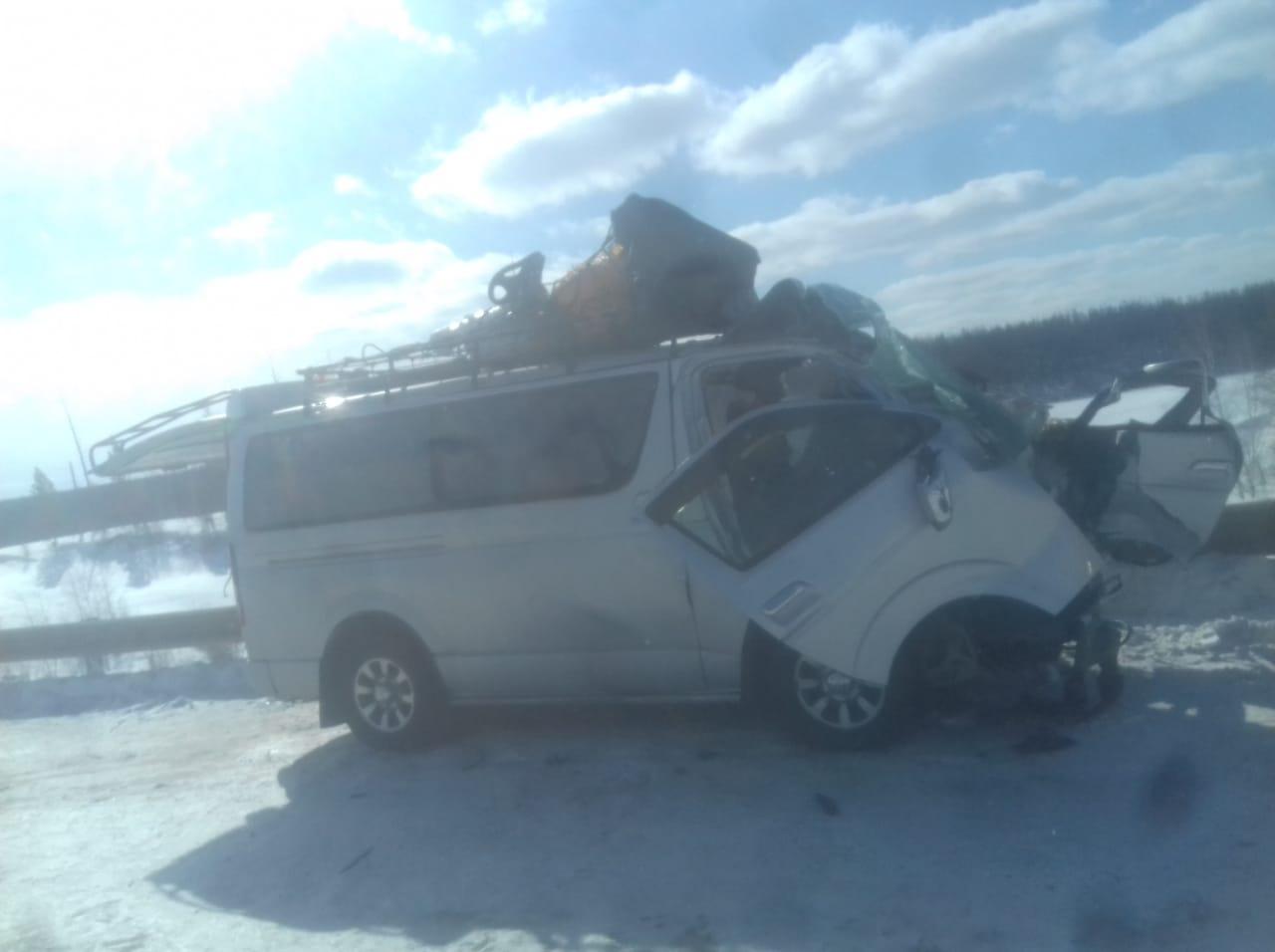 На автотрассе «Колыма» в Якутии произошло крупное ДТП, восемь человек пострадали