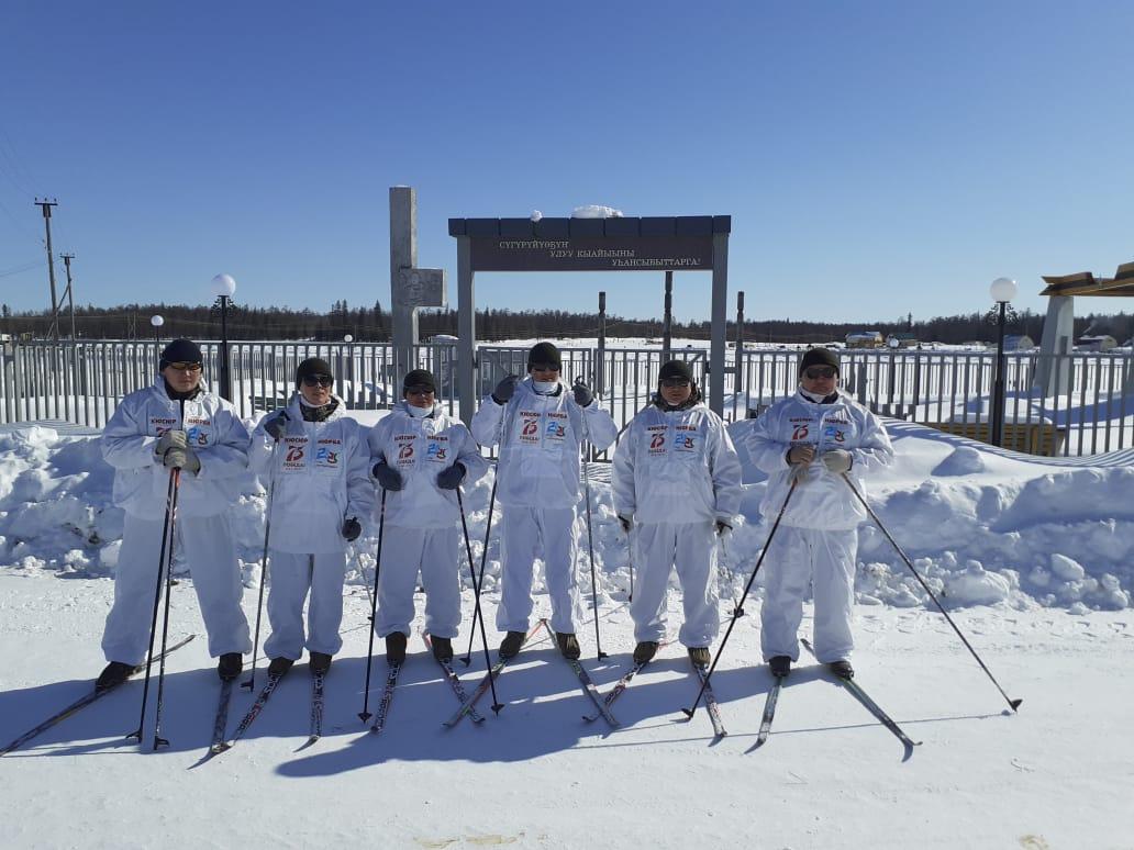 Команда лыжников перехода Кюсюр - Нюрба дошла до Верхневилюйского улуса