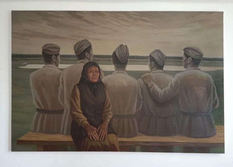 Художник Семен Луканси написал портрет матери-героини Февронии Малгиной