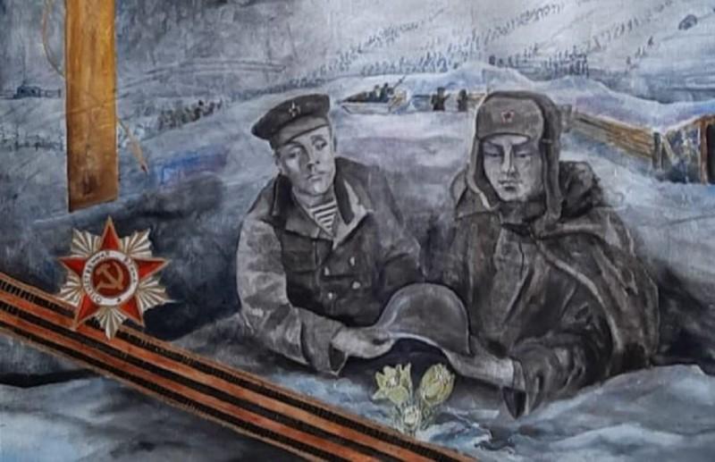 Ойские художники изобразили образ отца Владимира Путина в цикле «Цветы на холодном снегу»