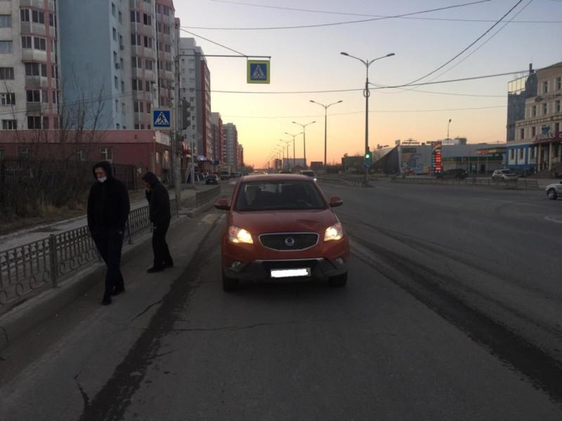 В Якутске пьяный пешеход попал в ДТП