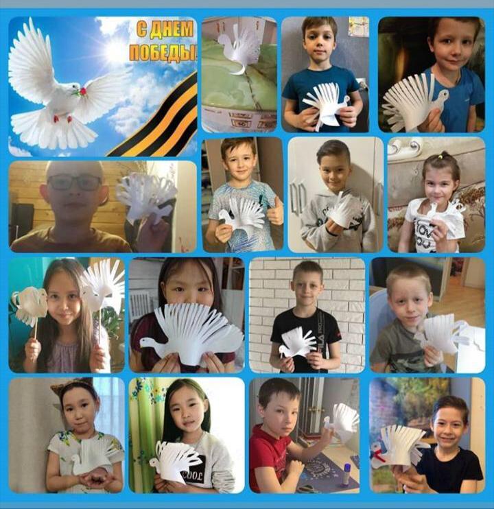 """Ученики спорткласса школы №5 Якутска поддержали акцию """"Голубь мира"""""""