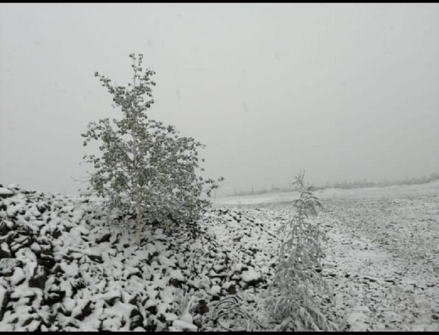 Снег в июле. Погода в Верхоянском районе резко изменилась