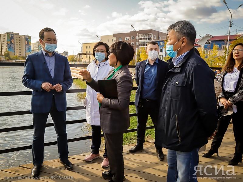 Айсен Николаев проверил готовность объектов комфортной городской среды в Якутске