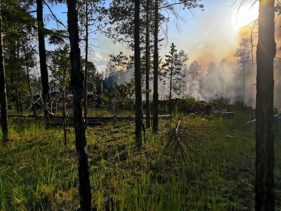 Дым в Якутск принесло от пожаров в Горном районе