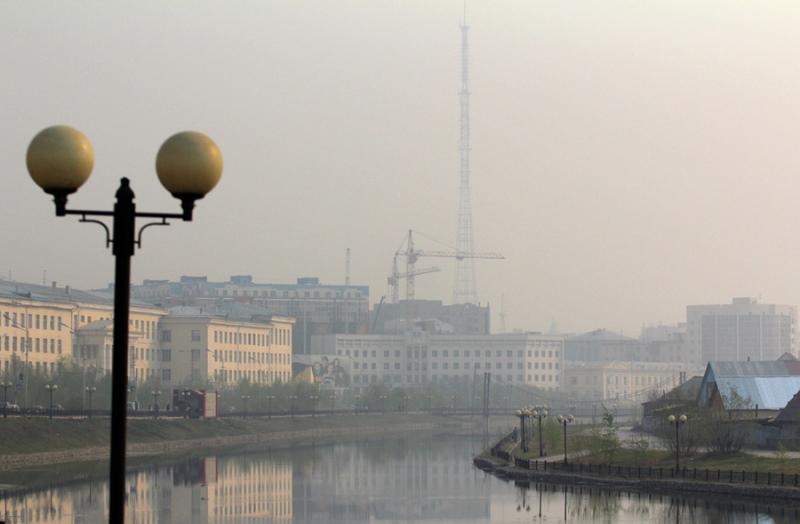 Задымленность в Якутске вызвал лесной пожар в Горном районе