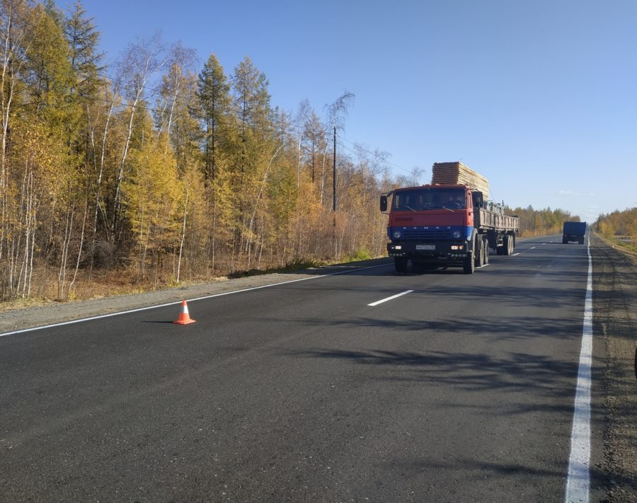 На автодороге «Нам» досрочно сдан 5-километровый участок после капремонта