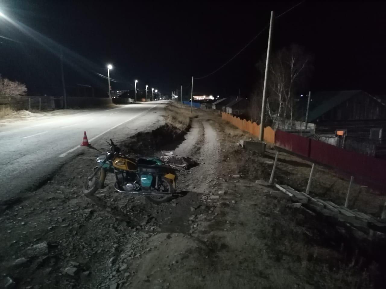 В Хангаласском районе в результате ДТП погиб мотоциклист