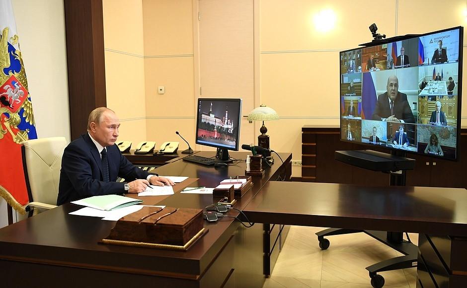 Путин оценил план по достижению национальных целей и обещал поддержку регионам в борьбе с COVID-19