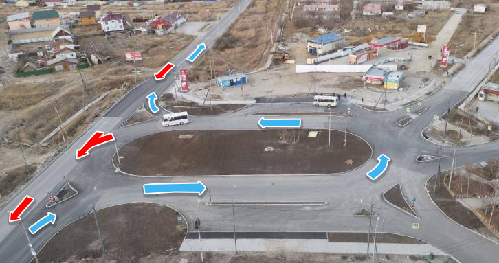 Фото: Как нужно правильно проезжать кольцевую развязку на Гимеине