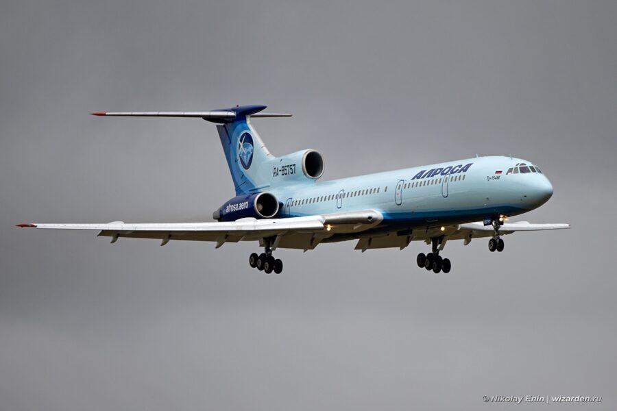 Последний в России гражданский Ту-154 совершил заключительный перелет