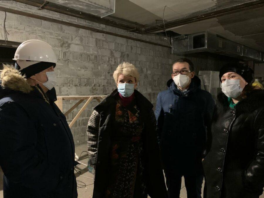 Ольга Балабкина проверила ход строительства спального корпуса Вилюйского психоневрологического диспансера