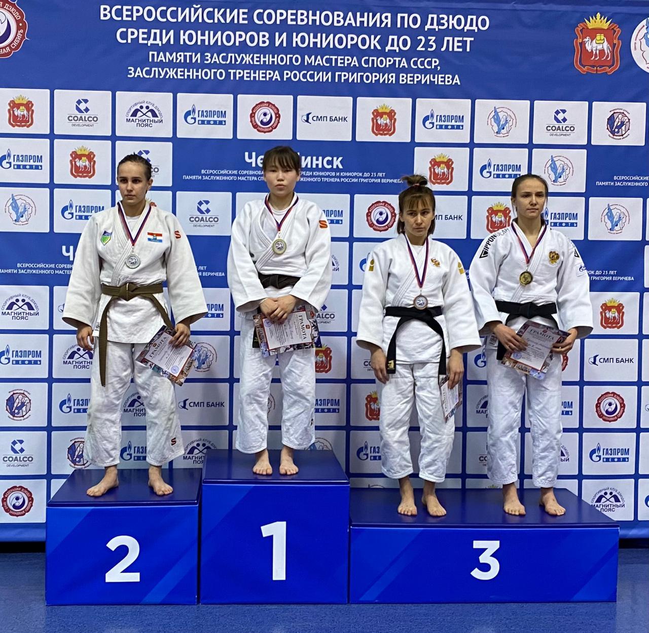 Карина Ефимова стала победительницей всероссийского соревнования по дзюдо в Челябинске