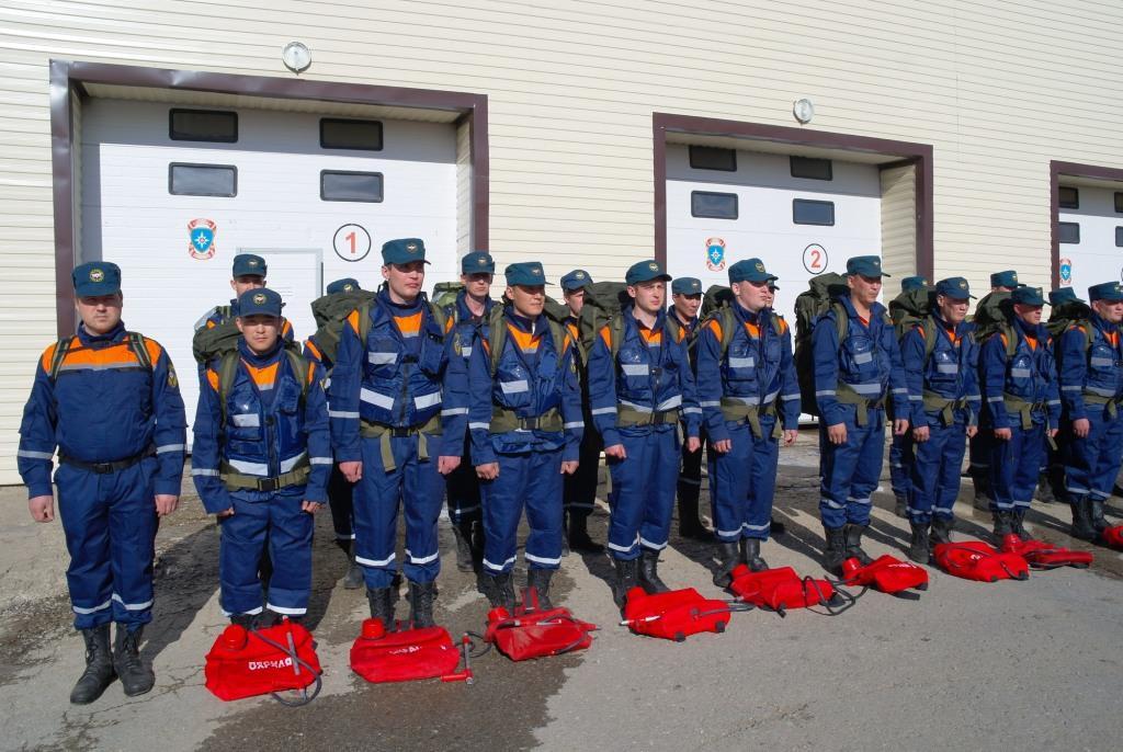 аэромобильная группировка перед отбытием в зону лесного пожара