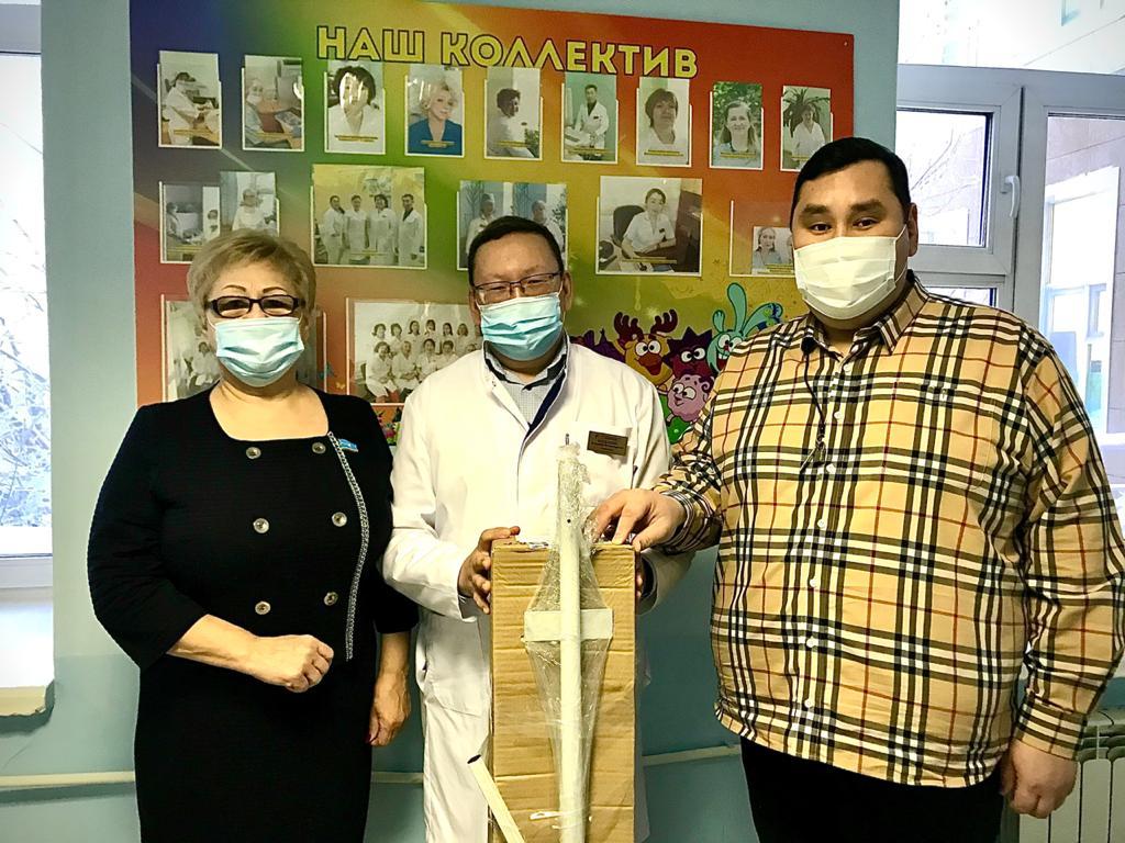Детской инфекционной больницеподарили передвижнойрециркулятор