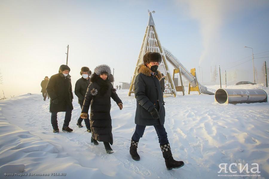 Глава Якутии оценил новую Набережную города Покровска