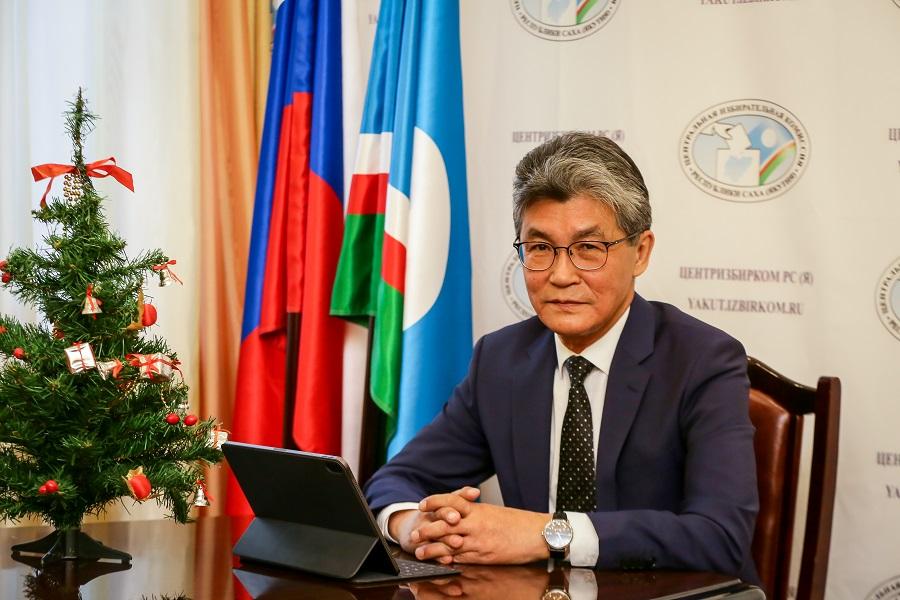 Председатель ЦИК республики Евгений Федоров поздравляет с наступающим Новым годом