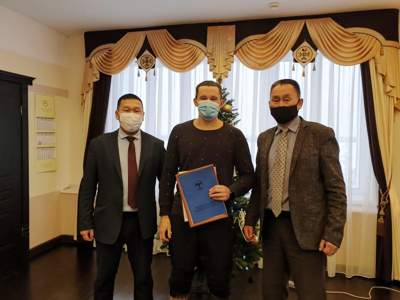 Якутскому спортсмену Егору Филиппову присвоили звание «Почетный житель села Синск»