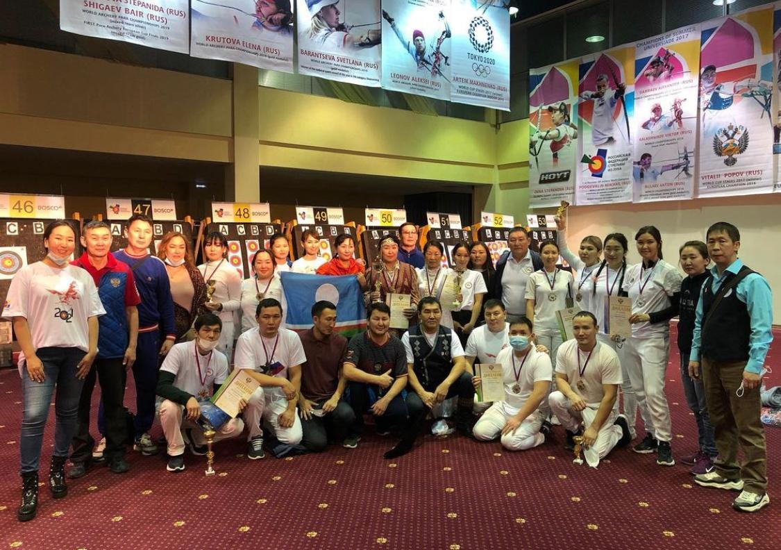 Якутские лучники завоевали восемь наград в Кубке и чемпионате России.