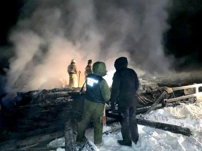 Следователи возбудили уголовное дело по факту гибели двух малолетних детей при пожаре в Якутии