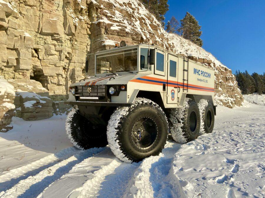 """Вездеход """"Бурлак"""" проходит испытания в условиях экстремально низких температур в Якутии"""