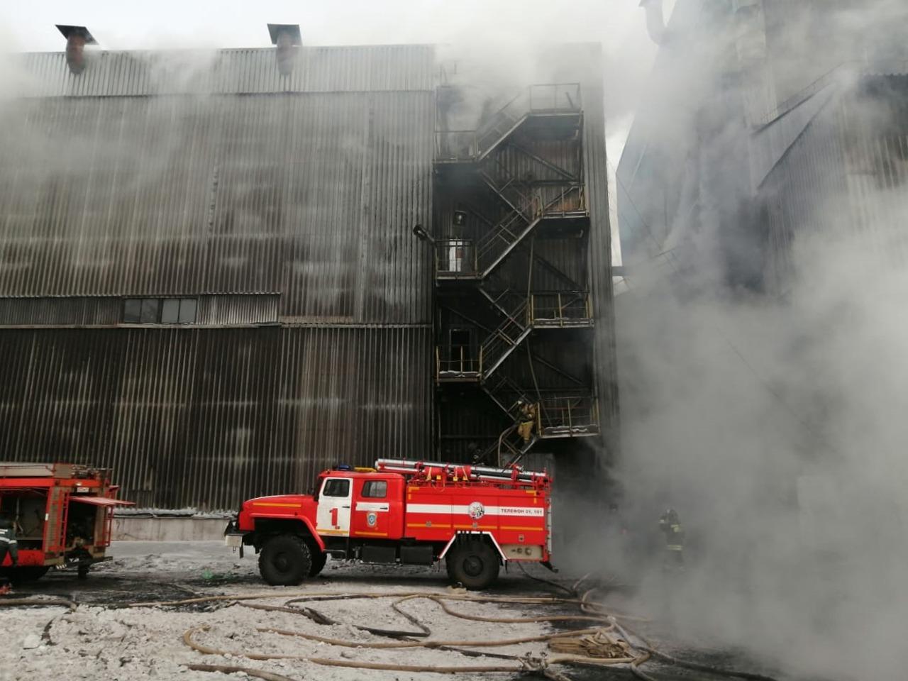 пожар на ленточном конвейере