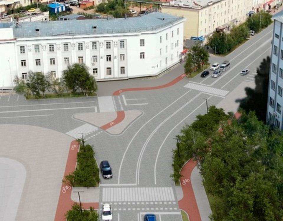 В 2021 году в Якутске начнут капремонт самого большого участка проспекта Ленина