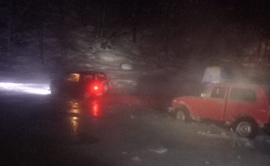 Спасатели эвакуировали четырех человек, застрявших в наледи в Нерюнгринском районе