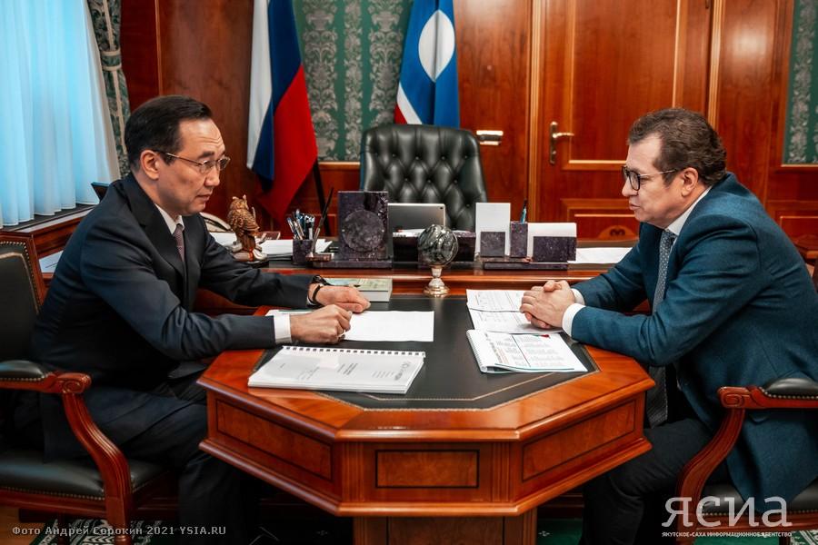 Алексей Чертков представил главе Якутии стратегию развития «Сахамедиа»