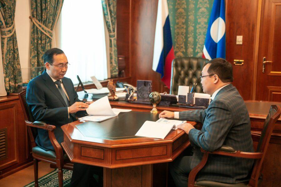 Айсен Николаев встретился с управляющим Отделением Пенсионного фонда России