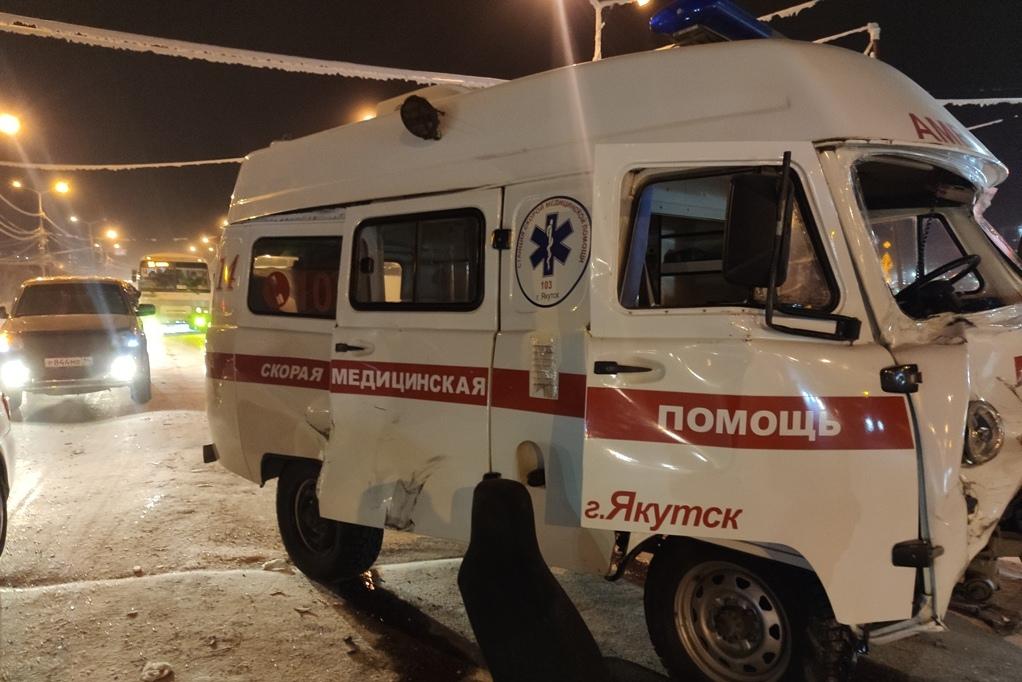ДТП со скорой Якутск 09.02.21П Повреждения УАЗ1