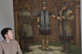 Якутской художник Семен Луканси посвятил новую картину женщинам