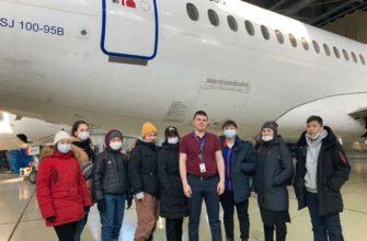 """В авиакомпании """"Якутия"""" организовали профориентационный тур для детей из Мегино-Кангаласского улуса"""