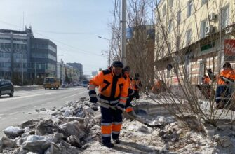 Санитарный трехмесячник в Якутске продолжается по графику