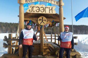 Игорь Петров и Егор Алексеев посвятили лыжный пробег Победе и Герою Труда