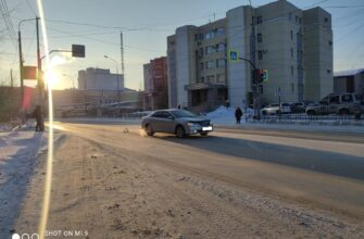 В Якутске произошел наезд на пешеходов