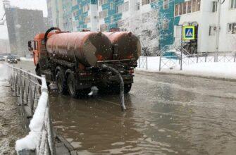 Сегодня на откачку талых вод с улиц Якутска вышло 17 машин