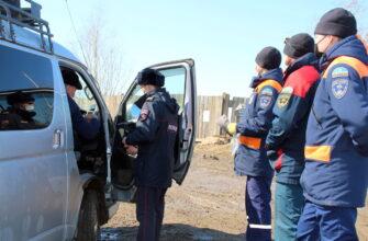 """Спасатели и полицейские провели рейд на переправе """"Якутск - Нижний Бестях"""""""