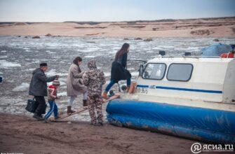 По маршруту Якутск - Нижний Бестях курсируют суда на воздушной подушке