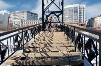 Ремонт вантовых мостов через озеро Теплое в Якутске завершат к 22 апреля