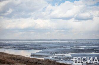 Фоторепортаж: Ледоход на Лене возле Якутска