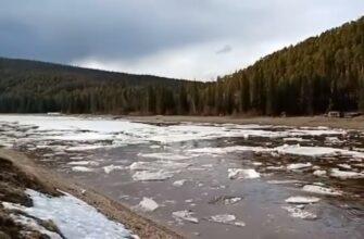 Началось! На реке Олекма в Якутии наблюдается густой ледоход
