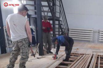 В новом здании культурно-спортивного комплекса в селе 1 Нерюктяй приступили к внутренней отделке