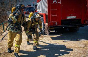 Якутские пожарные боролись за звание лучшего газодымозащитника