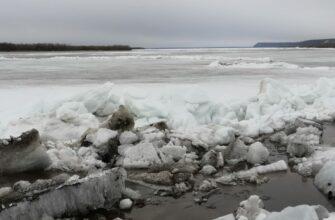 Ледоход на реке Лене подходит к Якутску
